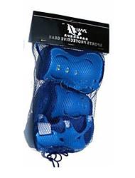azul equipamentos de proteção anti-derrapante-de-rosa para o miúdo