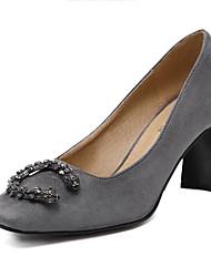 Damen-High Heels-Kleid-Vlies-BlockabsatzSchwarz Grau