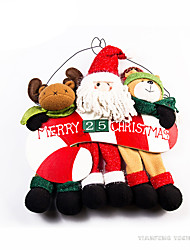 Toys Stuffed Toys Santa Suits / Elk / Snowman Cartoon / Lovely / High Quality / Fashion Holiday Supplies Boys / Girls Textile / Cotton
