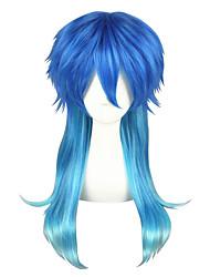 Parrucche Cosplay Kumamon Akari Blu Medio Anime Parrucche Cosplay 60 CM Tessuno resistente a calore unisex