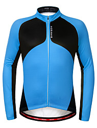 Wosawe® Unisexe Manches longues Vélo Garder au chaud / Pare-vent / Doublure Polaire / Antidérapage Shirt / Maillot 100 % PolyesterAutomne