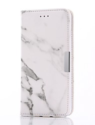 For Card Holder / Wallet / with Stand / Flip / Magnetic Case Full Body Case Marble Hard PU Leather for iPhone 7 Plus / iPhone 7