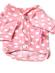 Chien Tee-shirt Vêtements pour Chien Décontracté / Quotidien Pois Polka Rose