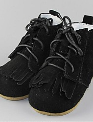 Girl's Boots Comfort Cowhide Casual Black Yellow Gray