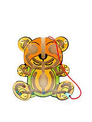 Brinquedo Educativo / Jogos de Labirinto & Lógica Jogos & Quebra-Cabeças Brinquedos Novidades Madeira Amarelo Para Meninos / Para Meninas