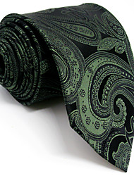 Mens Necktie Tie Blackish green Paisley 100% Silk New  Business  Fashion For Men