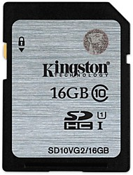 Kingston 16Go carte SD carte mémoire Class10