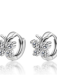 Non Stone Stud Earrings Jewelry Women Daily Casual Sterling Silver 1 pair As Per Picture