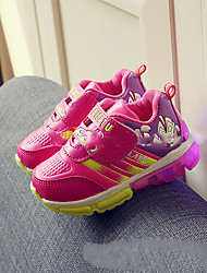 Girl's Athletic Shoes Winter Others Leatherette Outdoor Flat Heel Buckle Animal Print Yellow Pink Red Others
