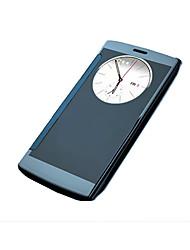 Per Custodia LG Con sportello visore / Placcato Custodia Integrale Custodia Tinta unita Resistente Acrilico LG LG G4