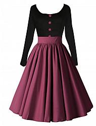 amazon desejo aliexpress europa estilo Hepburn retro balanço grande tutu manga longa fêmea