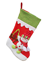 Christmas Toys / Gift Bags Holiday Supplies Santa Suits / Elk / Snowman Textile Red / Green All