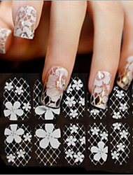 12 Pcs Station Bride Lace Nail Post Nail Strips All Nail Art Supplies
