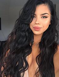 полный шнурок шнурка волос парики человеческих виргинская бразильская парики человеческих волос для черных женщин тела волны человеческих