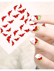 1pcs  Water Transfer Nail Art Stickers Fashion Lips Cat Flower Bow-knot  Sponge Bob Nail Art Design STZ31-35