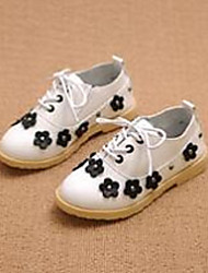 Girl's Flats Comfort PU Casual Black Pink White