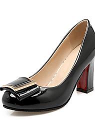 Feminino-Saltos-Sapatos com Bolsa Combinando-Salto Grosso-Preto Azul Rosa Bege-Courino-Casual Festas & Noite