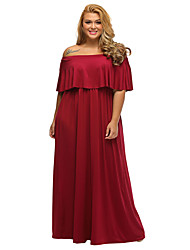 Women's Plus Size Ruffle Off Shoulder Dress