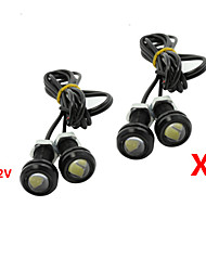 4x 9w conduit oeil d'aigle brouillard de voiture lumière diurne DRL inverser le signal de stationnement sauvegarde 12v noir
