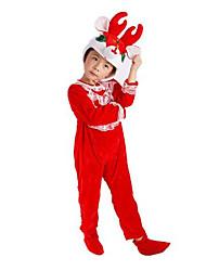 Costumes de Cosplay Animal Fête / Célébration Déguisement Halloween Rouge Mosaïque Collant/Combinaison / Plus d'accessoires Noël Enfant