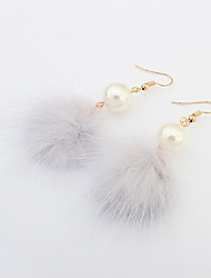 Drop Earrings Simple Style Fashion European Pearl Imitation Pearl Alloy White Black Gray Red Jewelry For Party Daily 1 pair
