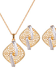 Jewelry 1 Pair of Earrings Necklaces Wedding Party Alloy 1set Women Gold Wedding Gifts