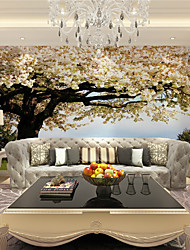 JAMMORY 3D Wallpaper For Home Contemporary Wall Covering Canvas Material Pink flowers treeXL XXL XXXL