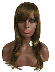 Long Natural Color Wigs for Black Women Hair Wig Side Bangs Christmas Festival Wigs