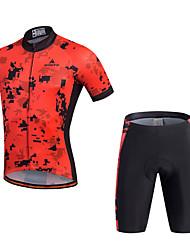 Спорт Велокофты и велошорты Муж. Короткие рукава ВелоспортДышащий Быстровысыхающий Влагопроницаемость 3D-панель Со светоотражающими