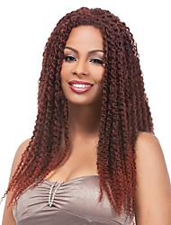 Chic Kinky Twists Hair Braided Long Dark Brown/Auburn Ombre wig Single Rod Twist Out