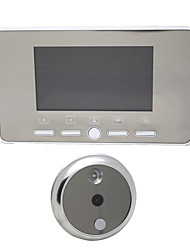 4.3 LCD Digital Door Eye Peephole Viewer Doorbell IR Photo Video Camera