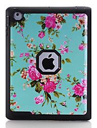 Para Água / Dirt / à prova de choque Estampada Capinha Corpo Inteiro Capinha Flor Rígida TPU para Apple iPad 4/3/2
