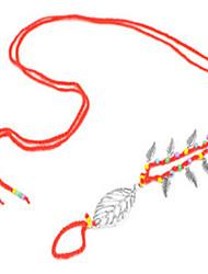Women's Anklet/Bracelet Alloy Beaded European Handmade Simple Style Fashion Leaf Jewelry For Beach