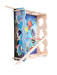 Tue so als ob du spielst Freizeit Hobbys Neuartige Quadratisch Holz Regenbogen Für Jungen Für Mädchen