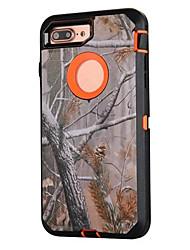 Para Antichoque / Anti-poeira / Estampada Capinha Corpo Inteiro Capinha Côr Camuflagem Rígida Silicone para AppleiPhone 7 Plus / iPhone 7
