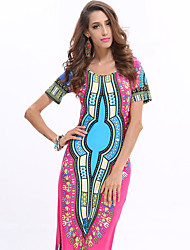 Spot new original single AliExpress Thailand and Indonesia printing totem dress big yards