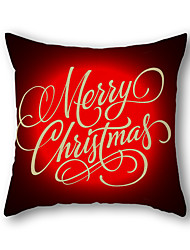 Christmas Series Linen Fabric Material Cushion Cover Pillow Case 17.7'X17.7'(45CMx45CM)