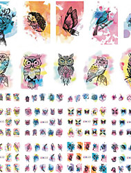 12 Designs Nail Sicker New Arrival Yellow Cartoon Family DIY Nails Tips for Nail Art Decorations Lovely Decals BN409-420