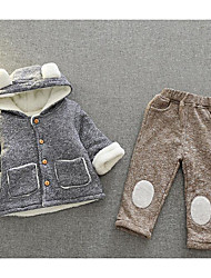 Boy Casual/Daily School Solid Sets,Rayon Winter Fall Half Sleeve Clothing Set