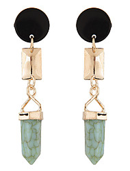 Drop Earrings Resin Alloy Fashion Green Jewelry Daily 1 pair