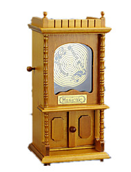 Music Box Square Wood Classic & Timeless Boys´ Girls´ 5 to 7 Years 8 to 13 Years 14 Years & Up