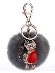 Key Chain Sphere Key Chain Gray Metal / Plush