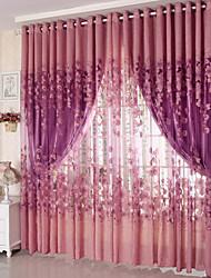 Um Painel Tratamento janela Regional Sala de Estar Poliéster Material Sheer Curtains Shades Decoração para casa For Janela
