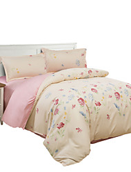 Mingjie Peach Flowers Bedding Sets 4PCS for Twin Full QueenSize from China Contian 1 Duvet Cover 1 Flatsheet 2 Pillowcases