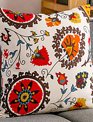 1 pcs Algodão Fronha,Floral / Toile Tradicional/Clássico / Retro