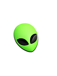 1PCS 5.6x3.7cm Metal 3D Alien Auto Logo Badge Metal Car Motorcycle Sticker Emblem Car Styling Accessories