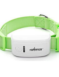 Dog GPS Collar Rechargeable / Wireless / GPS / Batteries Included Geometic Green Plastic