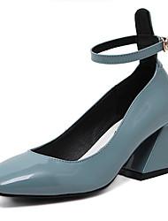 Feminino-Saltos-Conforto Inovador-Salto Grosso-Preto Azul-Couro-Casamento Festas & Noite