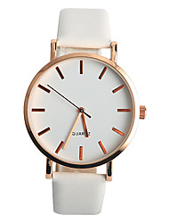Women's Fashion Watch Quartz / PU Band Casual White Brand