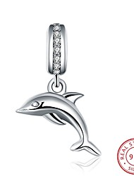 European and American Style Popular Fashion Jewelry 925 Sterling Silver Zircon Pendant Hanging Bracelet - The Dolphin Shape Accessories